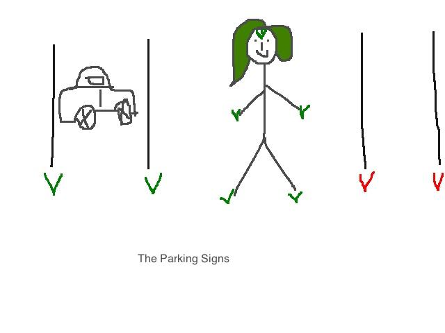 Green V Parking