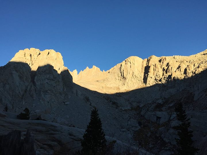 Sun rising over Mt. Whitney