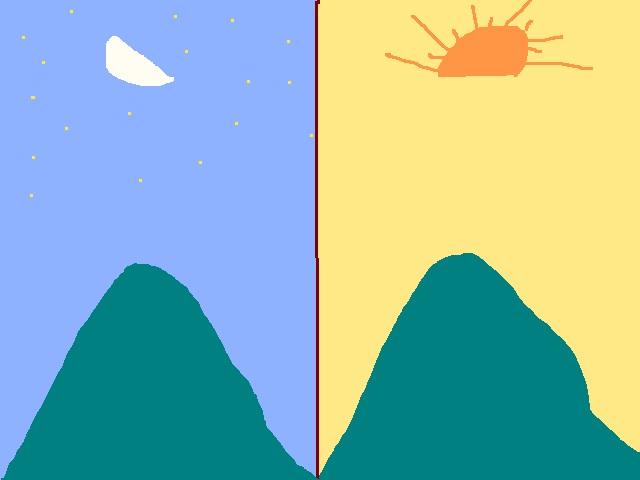 Half Moon and Half Sun