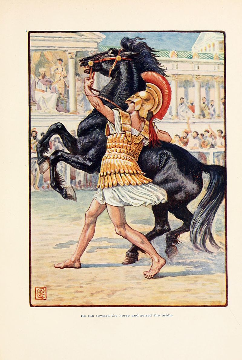 He_ran_toward_the_horse_and_seized_the_bridle
