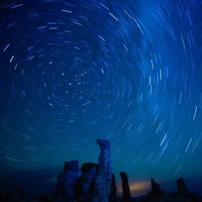 Star Trails of the Milky Way Galaxy
