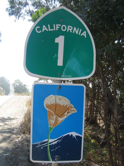California_State_Route_1_All_American_Road_sign